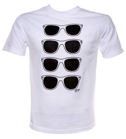Gravity Threads Classic Horn-rimmed Sunglass Print Long And Short Sleeve T-Shirt