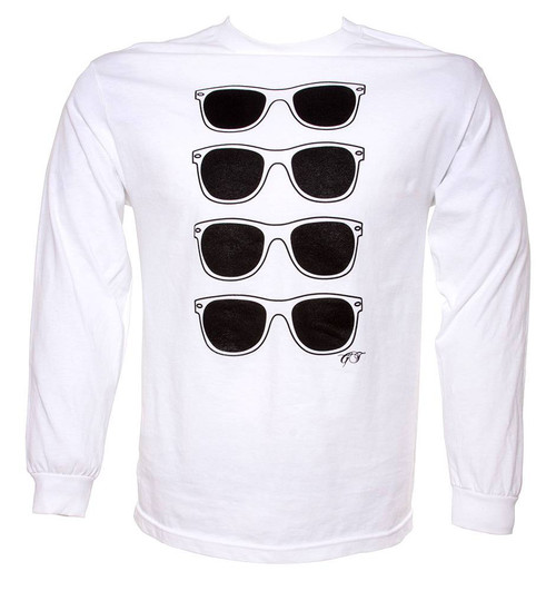 Gravity Threads Classic Horn-rimmed Sunglass Print Long And Short Sleeve T-Shirt