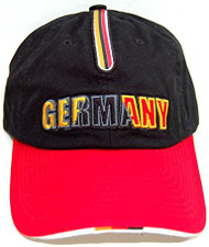 World Cup Germany Vintage Adjustable Buckle Soccer Cap- W/ Flag strip