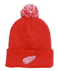Detroit Red Wings Beanie with Pom - Red