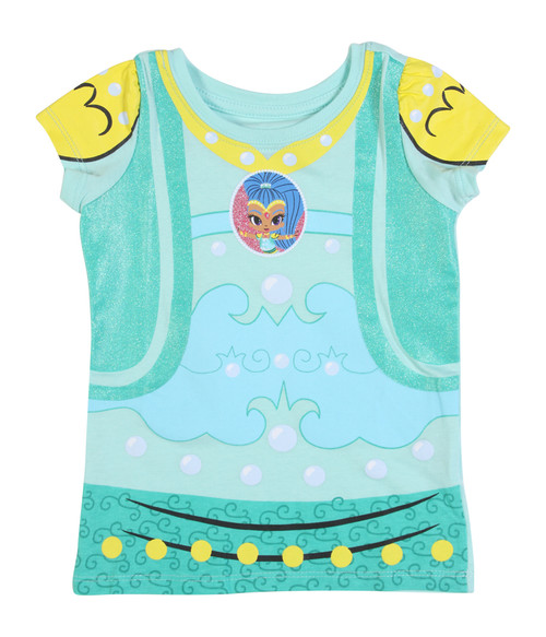 Shimmer & Shine Toddler Turquoise Short-Sleeve Puff T-Shirt