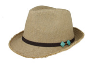 Jute Fedora Hat - Natural