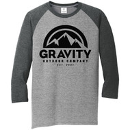 Mens Gravity Outdoor Co. 3/4-Sleeve Raglan Shirt
