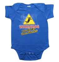 WARNING I Do All My Own Stunts Baby Bodysuit