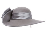 Womens Floppy Curved Hat w/ Giant Bow