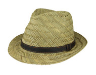 Paper Straw Fedora Hat - Natural