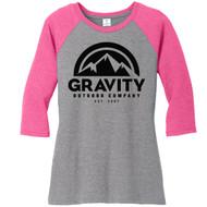 Womens Gravity Outdoor Co. 3/4-Sleeve Raglan Shirt
