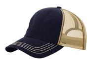 TopHeadwear Washed Cotton Twill Adjustable Trucker Cap