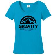 Womens Gravity Outdoor Co. Short-Sleeve T-Shirt