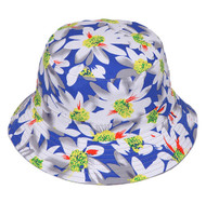 Womens Reversible Wide Brim Floral Bucket Hat