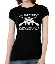 Womens God Guns Guts Short-Sleeve T-Shirt