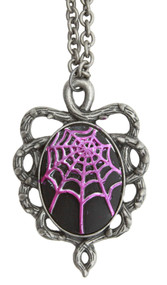 Spider Goth Web Pendant Necklace