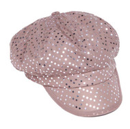 Womens Fashion Sequined Newsboy Cap