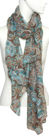 Womens Fashion Paisley Soft Scarf