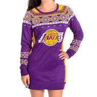 Los Angeles Lakers NBA Big Logo Sweater Dress