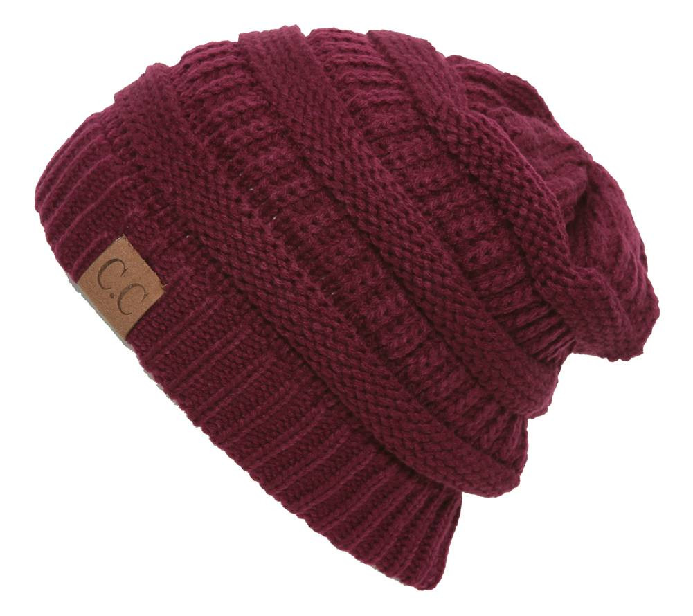 C.C Women s Thick Soft Knit Beanie Cap Hat - Gravity Trading 48f610271915