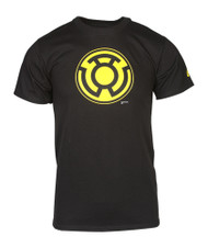 Officially Licensed DC Comics Black SINESTRO CORPS Symbol T-Shirt