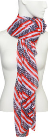 Womens Fashion USA Stripes Soft Scarf