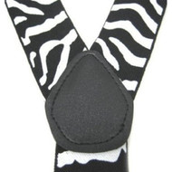 New Zebra Print Suspenders - Black / White