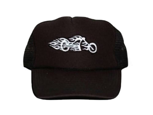 New Motorcycle Chopper Trucker Hat - Black Out