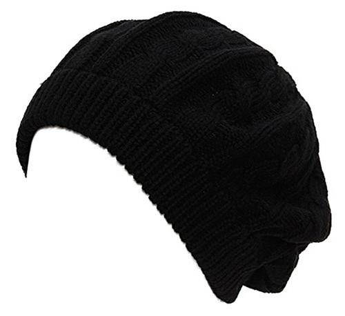 TopHeadwear Cable Knit Beret Cap
