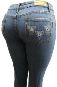 Women's Omega Skinny Stretch Jeans- Geometric 16, 9