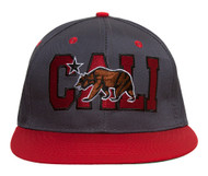 Cali Bear Flatbill Snapback Hat + GT Sweat Wristband