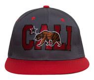 Cali Bear Flatbill Snapback Hat + GT Sweat Wristband
