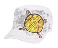 TopHeadwear Championship Softball Distressed Cadet Cap