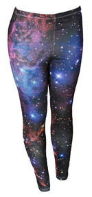 Galactic Space Nebula Ladies Basic Leggings with socks