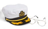 Sea Captain's Kit - Captain Hat + Aviator Sunglasses