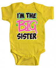 """Baby """"I'm the Big Sister"""" Bodysuit (Various Colors)"""