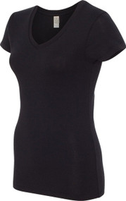 Alternative Ladies 1x1 Rib V-Neck T-Shirt
