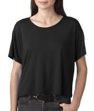 Bella - Ladies' Flowy Boxy Cropped Crewneck T-Shirt