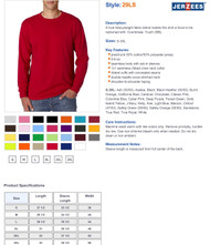 Jerzees 5.6 oz. 50/50 Long-Sleeve T-Shirt