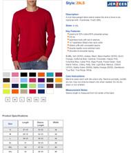 Jerzees 5.6 oz. 50/50 Long-Sleeve T-Shirt