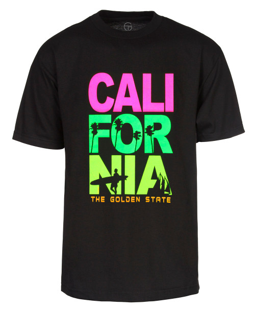 Men's California The Golden State T Shirt - Black