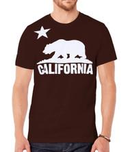Mens Short-Sleeve Men's California Bear Logo Black T-Shirt