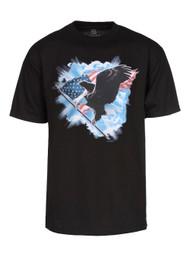 Men's American Eagle Short-Sleeve Black T-Shirt