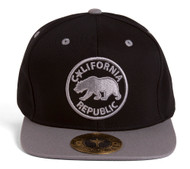 TopHeadwear California Republic Circle Logo Snapback