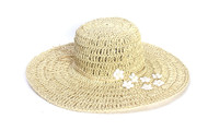Womens Crocheted Toyo Big Brim Sun Hat