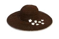 Womens Crocheted Toyo Big Brim Sun Hat