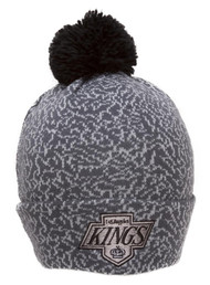 Mitchell & Ness Los Angeles Kings Celtics Cracked Pattern Cuffed Beanie w/ Pom