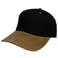 LOW PROFILE (STRUCTURED) TWILL CAP W SUEDE BILL
