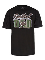 Football Dad Mens Black Short-Sleeve T-Shirt