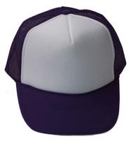 Vintage 2 Tone Foam Trucker Hat Cap , Purple