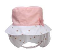 Kindercaps Infant Flat Bucket w/ Flower