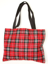 Clover Red Plaid Tote Bag