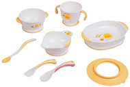 Piyo Piyo 8 Piece Stage 1 Training Table Set, Yellow