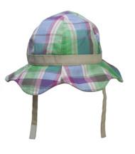 Infant Plaid Bucket Hat w/ Break-Away Chin Cord